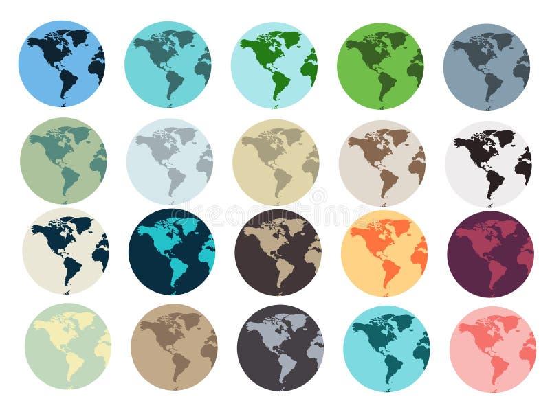 背景地球充分的行星星形 套地球地球象 库存例证