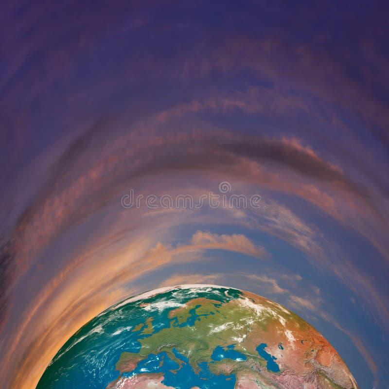 背景地球充分的行星星形 免版税图库摄影