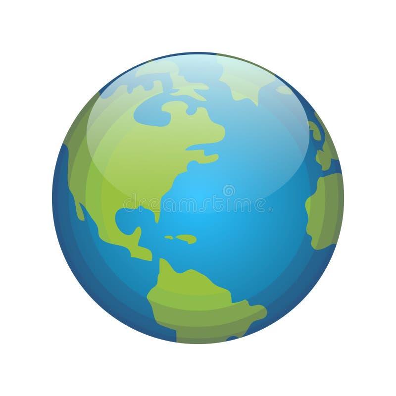 背景地球充分的行星星形 库存例证
