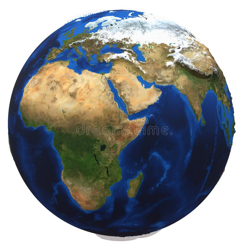 背景地球地球查出的白色 库存照片