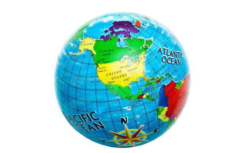 背景地球白色 免版税库存照片