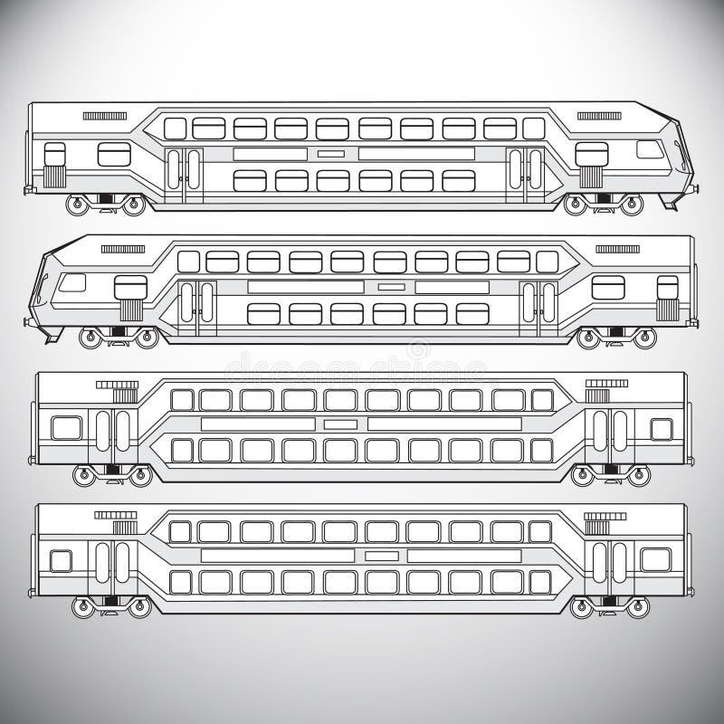 背景地球高铁路速度培训运输 向量例证