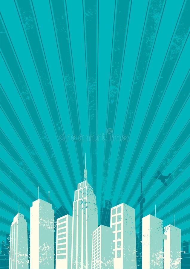 背景城市 向量例证