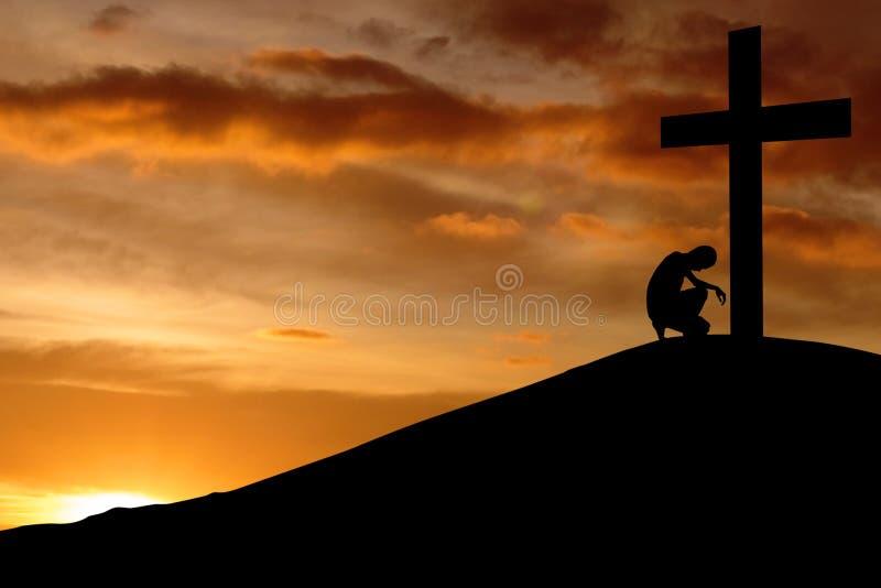背景基督徒坦白 库存照片
