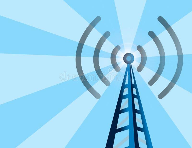 背景塔无线 向量例证