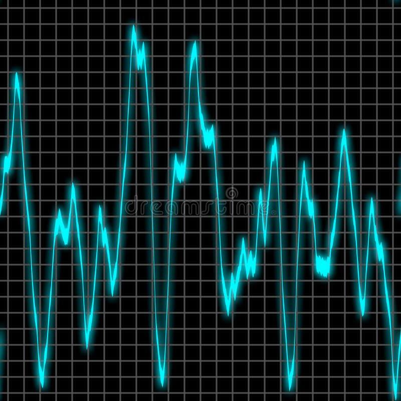 背景声振动 向量例证