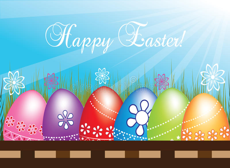 背景复活节彩蛋设置了三 皇族释放例证