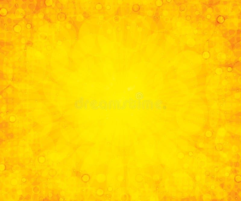 背景夏天黄色 向量例证