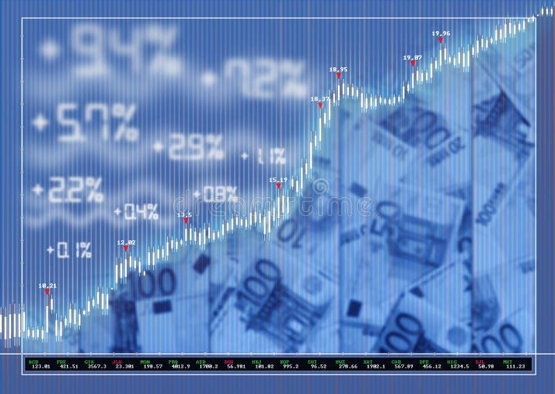 背景外汇市场股票 向量例证