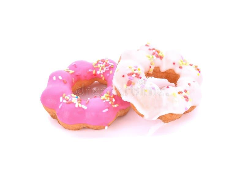 背景多福饼查出的宏观照片白色 免版税库存图片