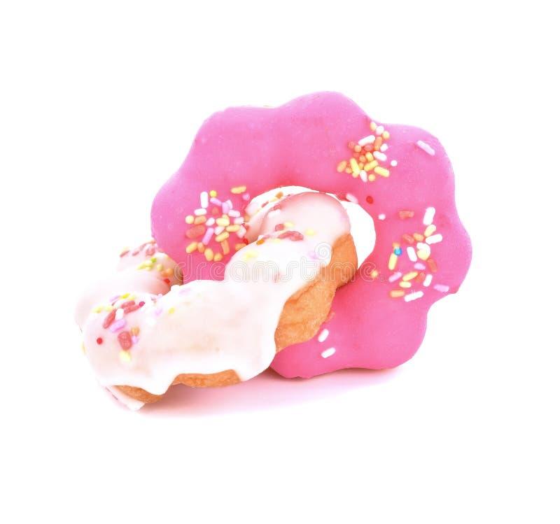 背景多福饼查出的宏观照片白色 免版税库存照片
