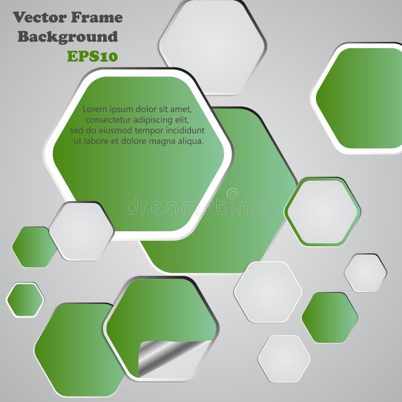 背景多角形裁减纸 构思设计餐馆模板 传染媒介illustrat 库存例证