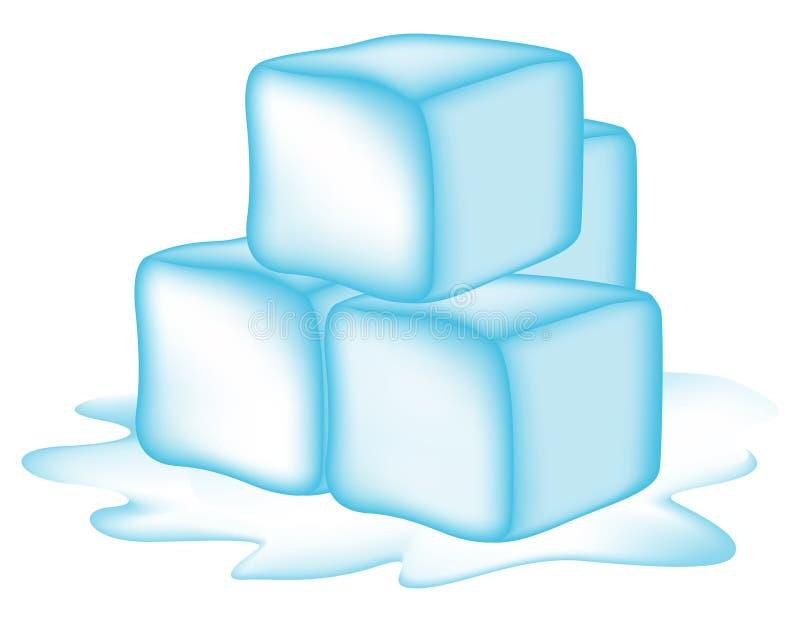背景多维数据集冰白色