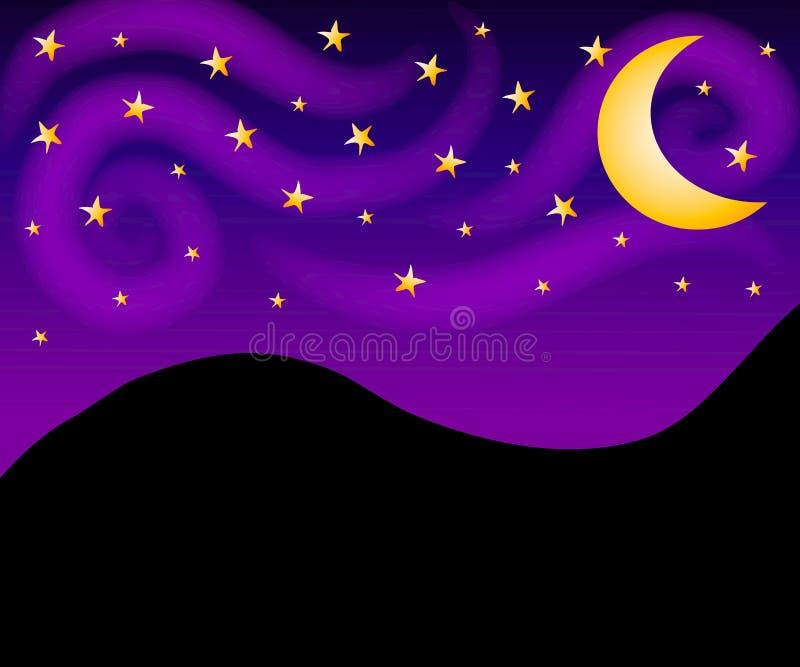 背景夜空星形 皇族释放例证