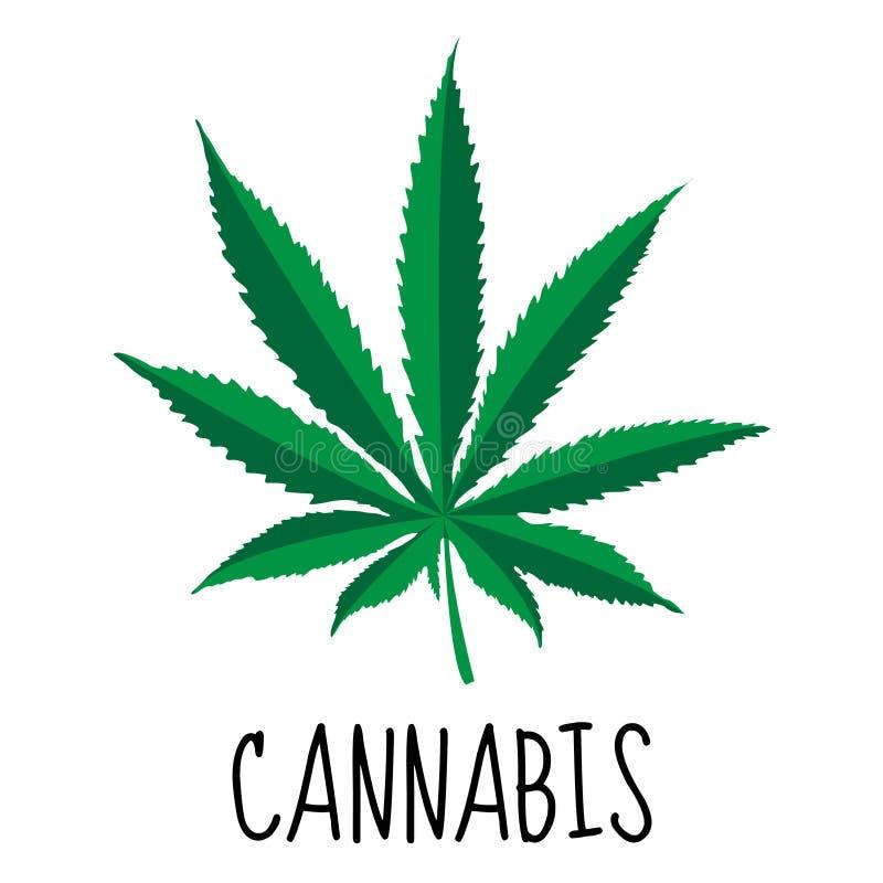背景大麻选择查出的叶子做白色您 大麻草本 药厂 也corel凹道例证向量 向量例证