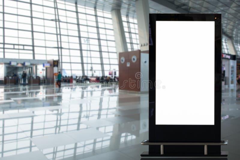 背景大LCD广告 库存照片
