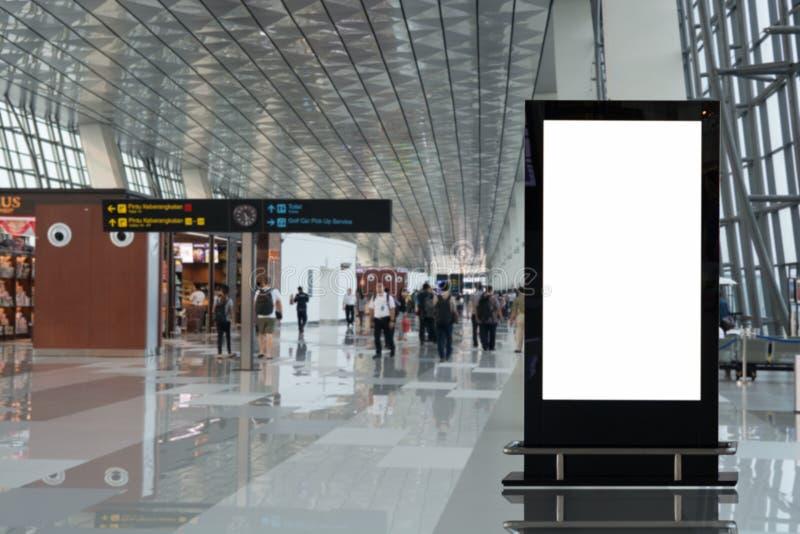 背景大LCD广告 图库摄影