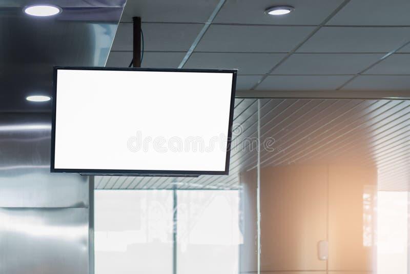 背景大LCD广告 免版税库存图片