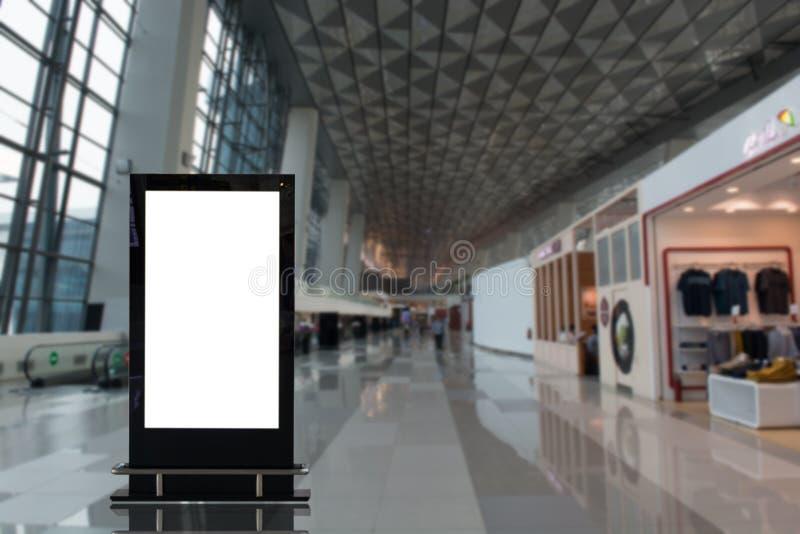 背景大LCD广告 免版税库存照片