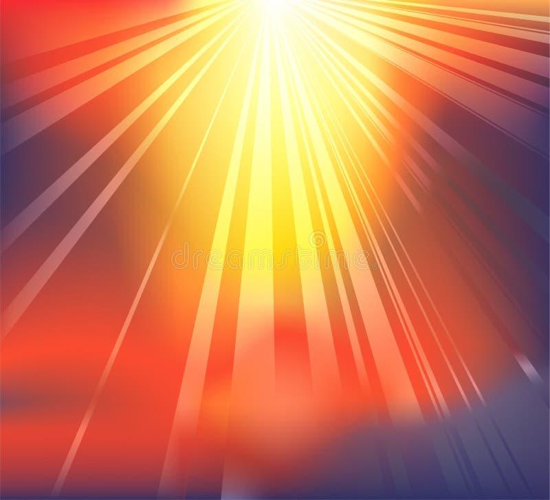 背景天堂般的光 向量例证