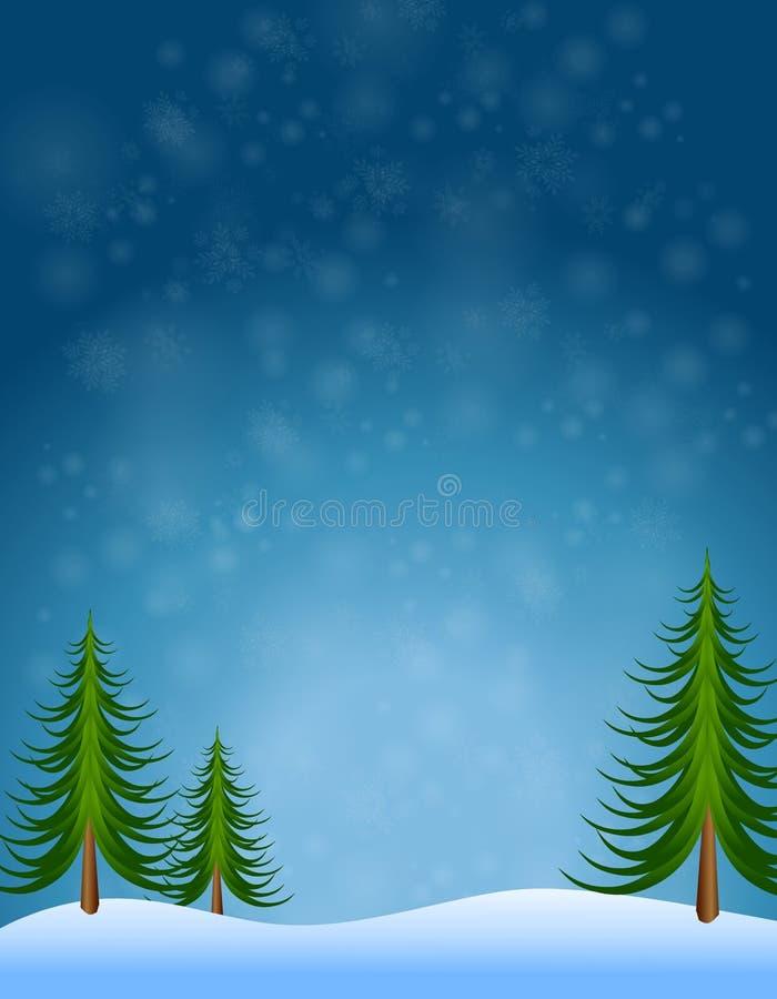 背景天空结构树冬天 皇族释放例证