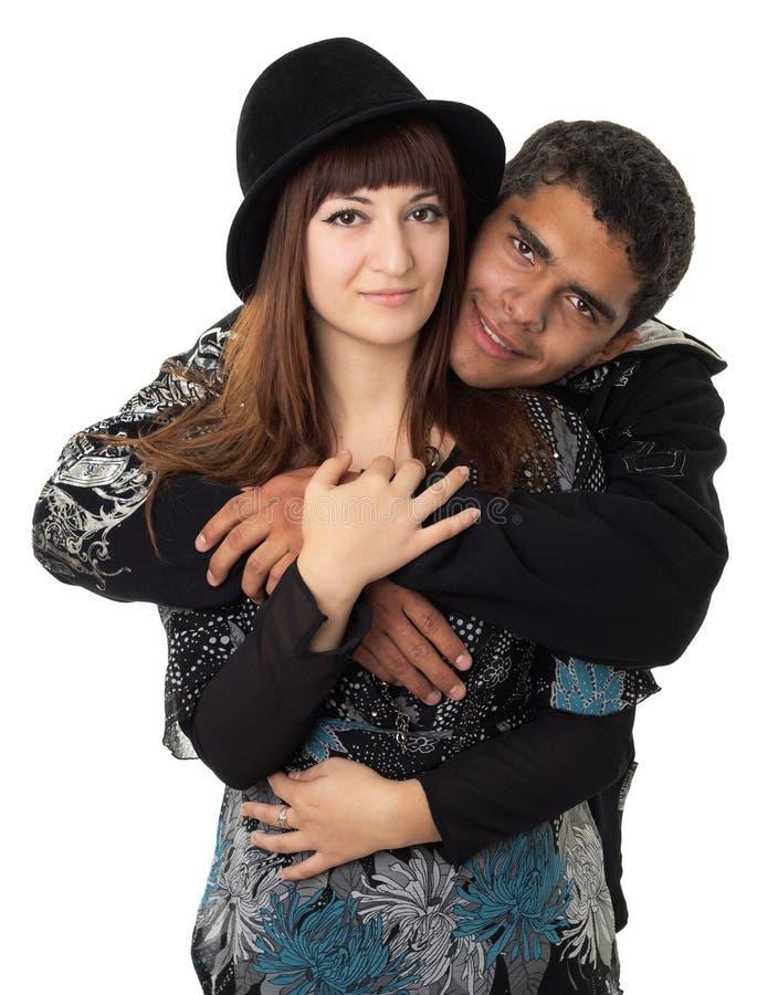 背景夫妇爱的白色 免版税库存照片