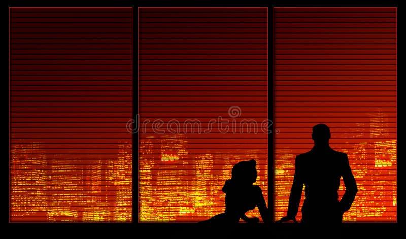 背景夫妇系列视窗 皇族释放例证