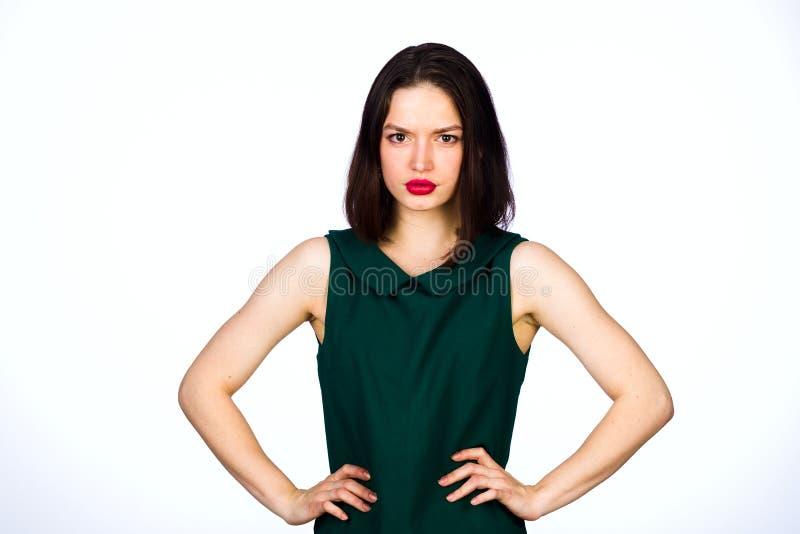 背景女孩射击工作室空白年轻人 图库摄影
