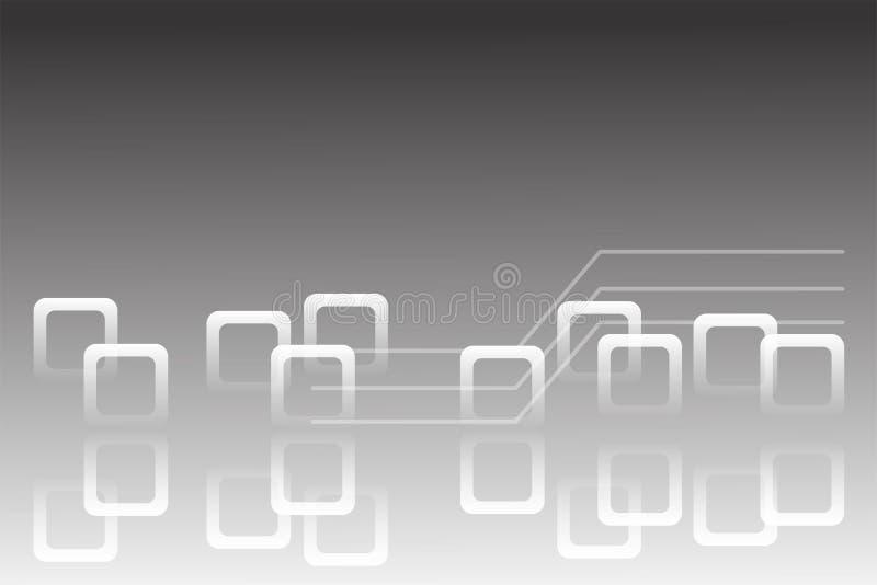 背景妖术moder techno艺术白色例证提取灰色极谱 库存例证