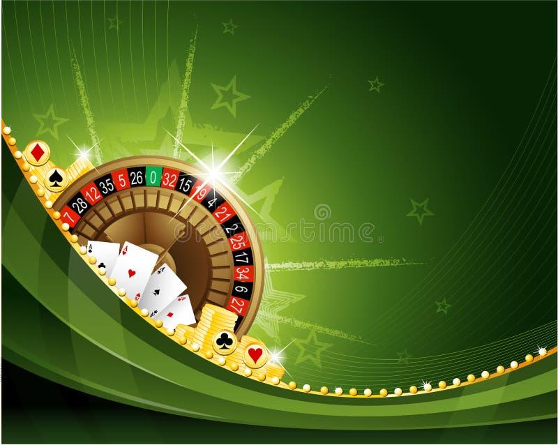 背景娱乐场赌博的轮盘赌 库存例证
