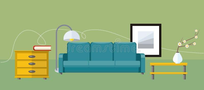 背景家具图标查出的集合白色 向量例证