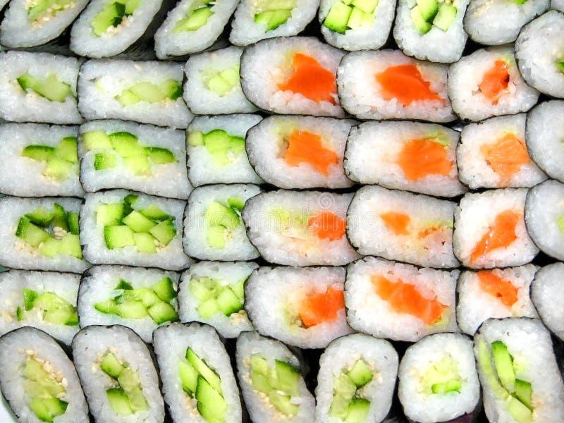 背景寿司 免版税库存图片