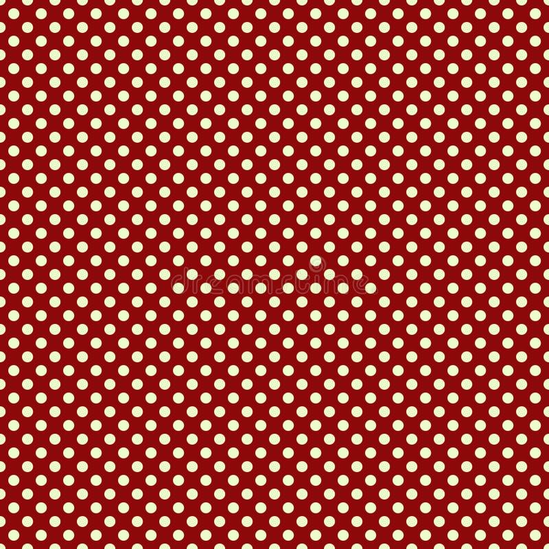 背景小点短上衣红色白色 向量例证