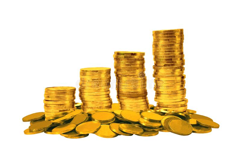 背景币金例证查出的向量白色 免版税库存图片