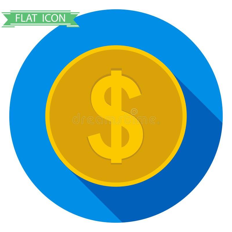 背景币金例证查出的向量白色 库存例证