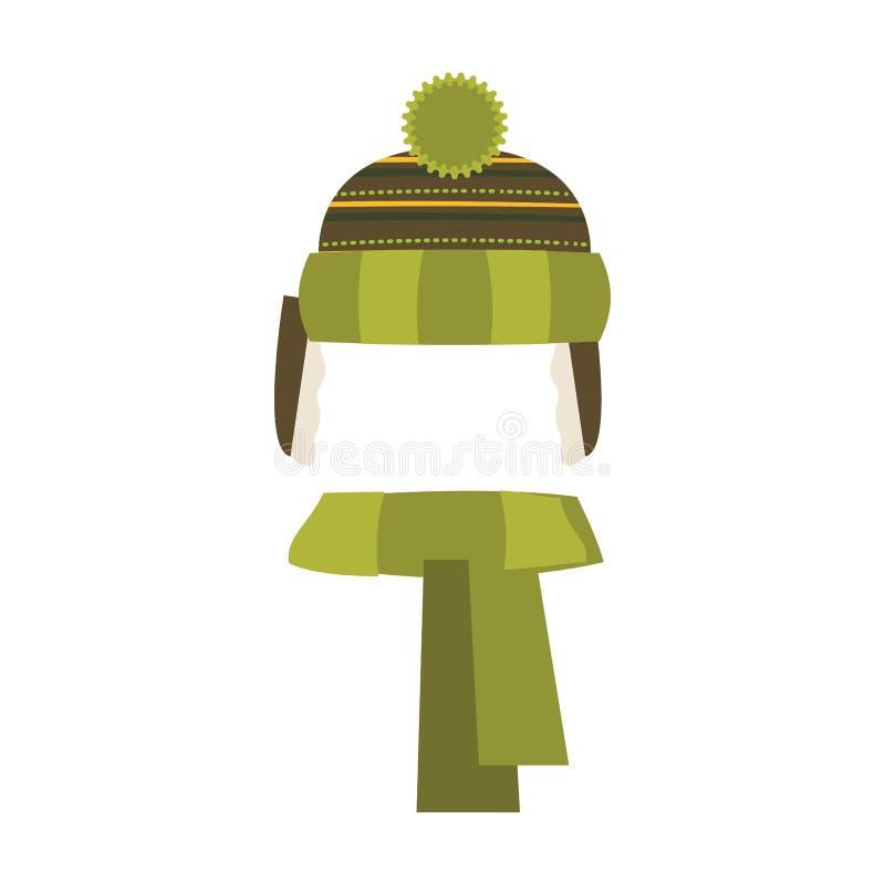 背景帽子查出的白色 冬天编织的帽子 也corel凹道例证向量 向量例证