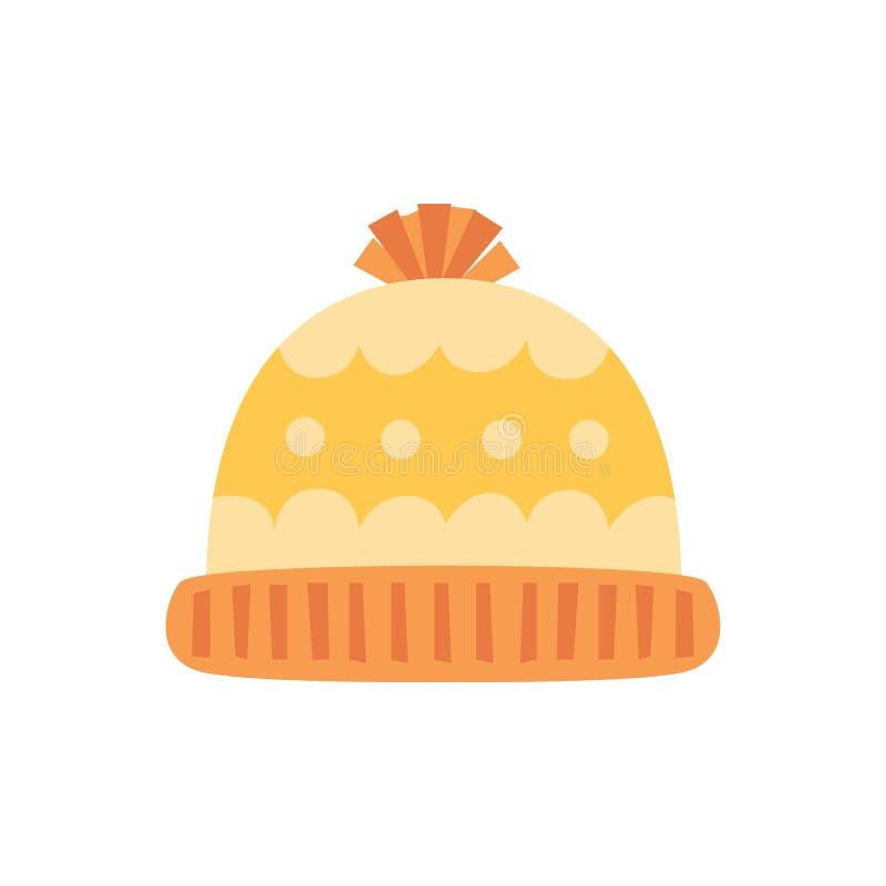 背景帽子查出的白色 冬天编织的帽子 也corel凹道例证向量 皇族释放例证
