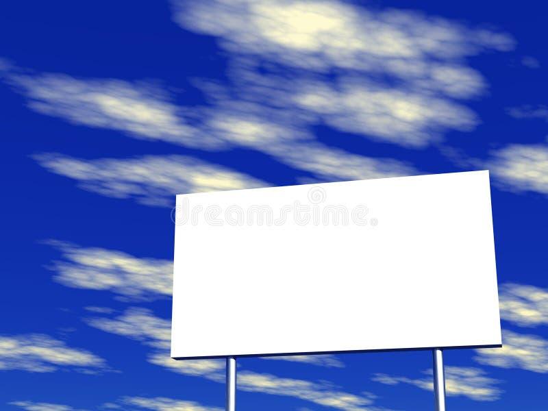 背景广告牌空的天空 库存例证