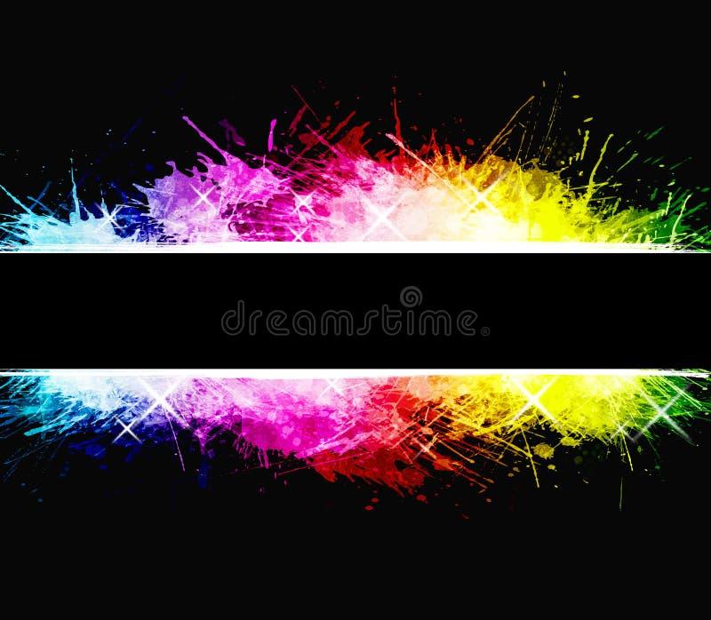 背景庆祝彩虹泼溅物水彩 向量例证