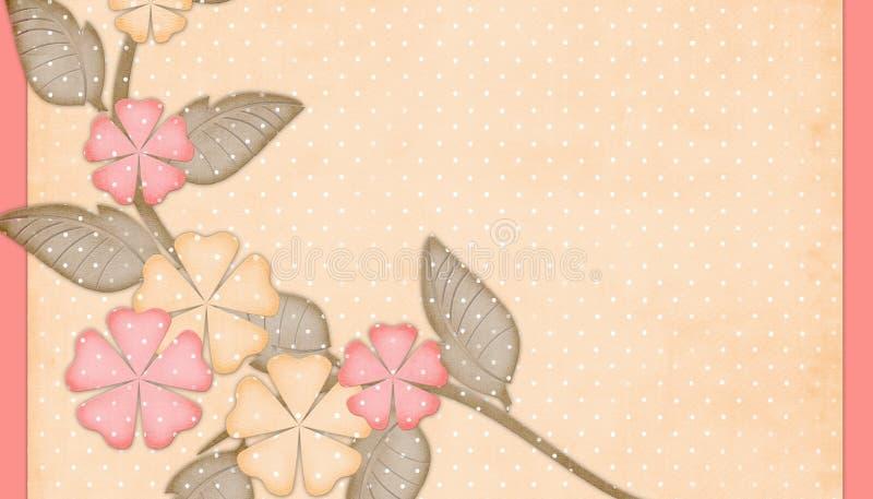 背景开花桃子粉红色 向量例证