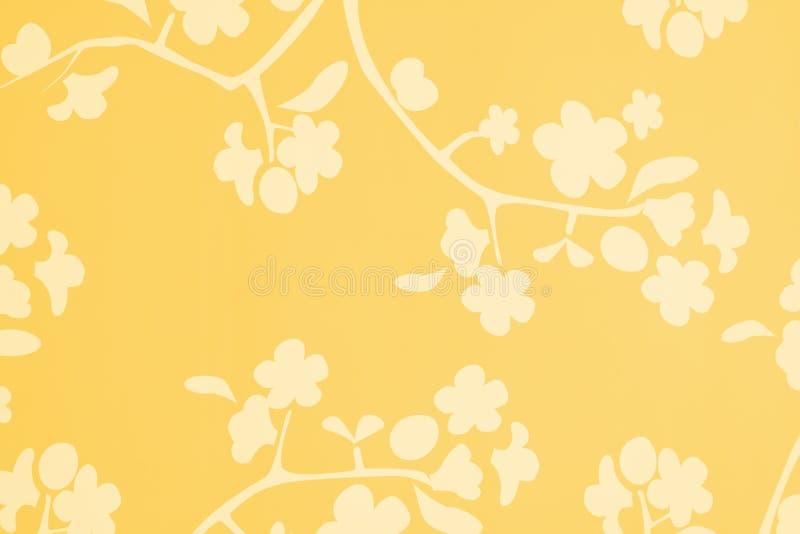 背景开花橙色空白黄色 库存例证