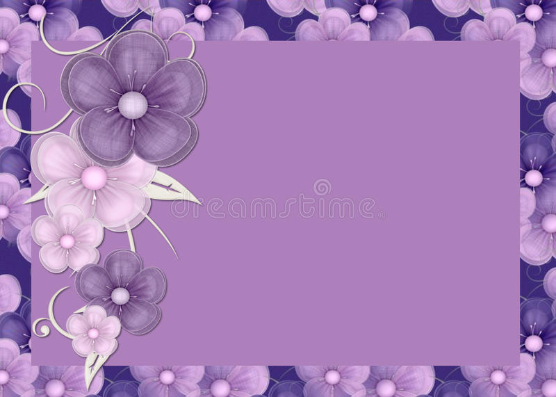背景开花紫色 库存例证
