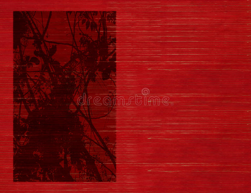 背景开花被缠结的剪影板条做 库存例证