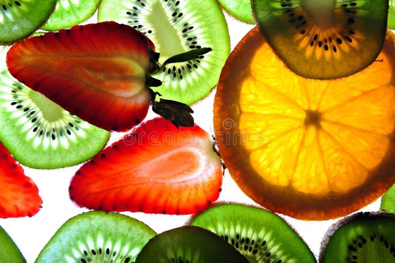 背景异乎寻常的果子 免版税库存照片