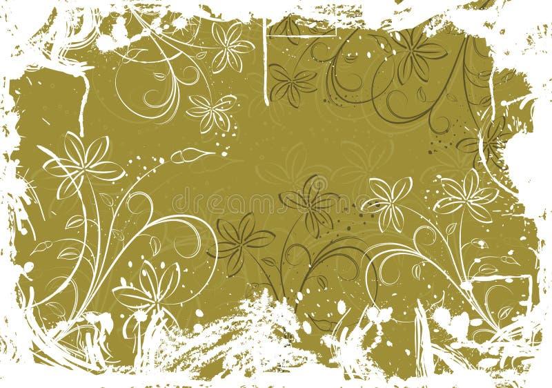 背景弄脏花卉grunge向量 皇族释放例证