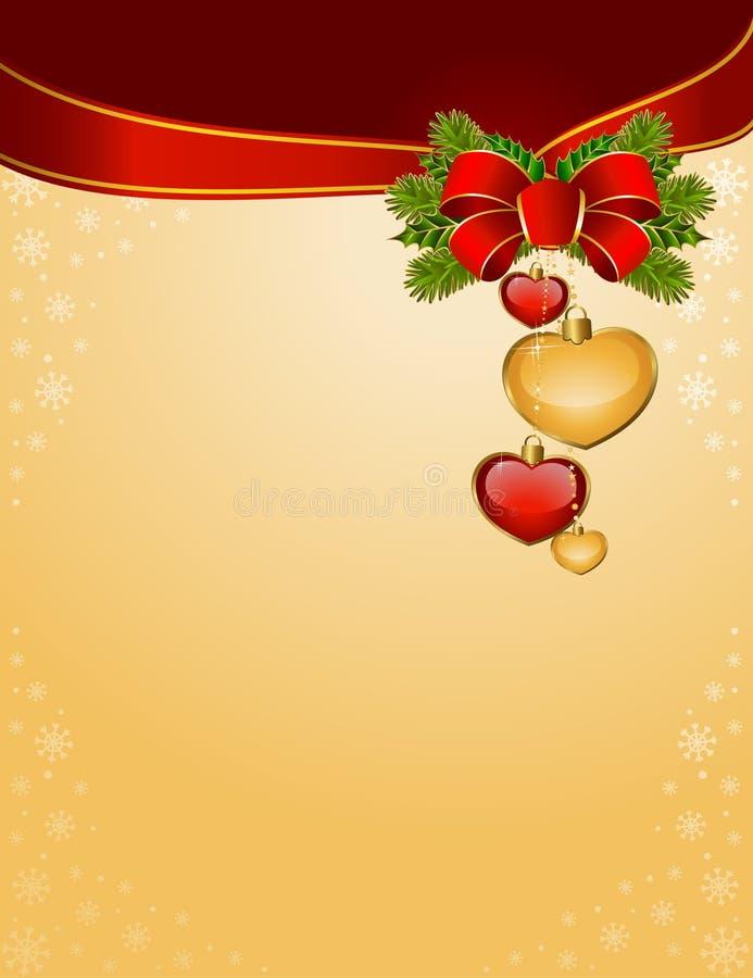 背景弓圣诞节红色 库存例证