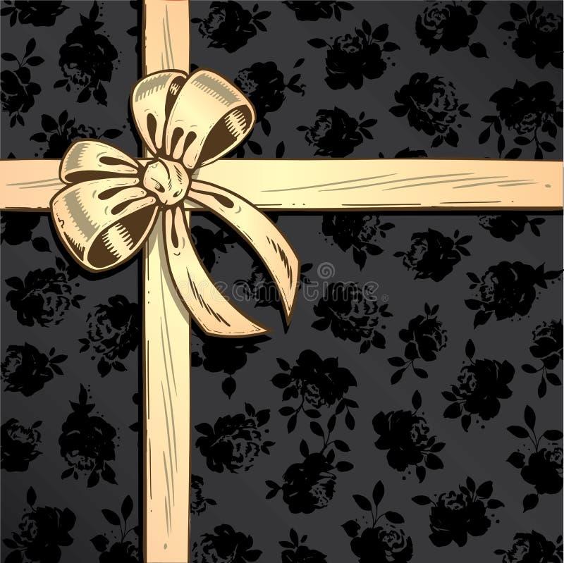 背景弓illustr丝带玫瑰色向量 向量例证