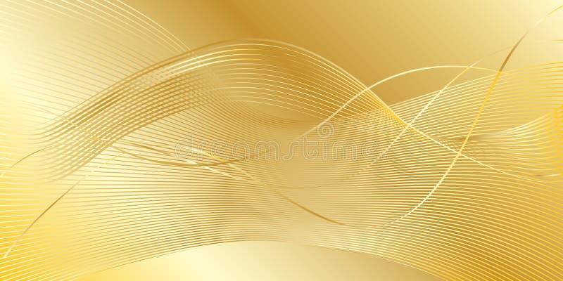 背景弯曲框架金子宏观老纹理 向量例证