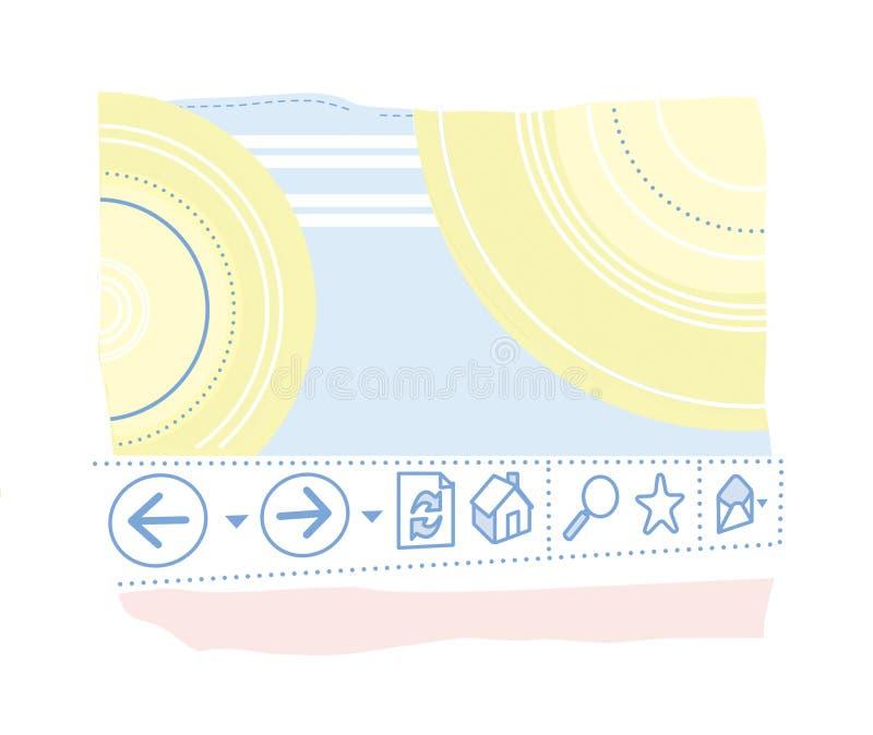 背景影像,数字图表 状态行,命令行,信息存储,数字文件,盘 查出在白色 向量例证