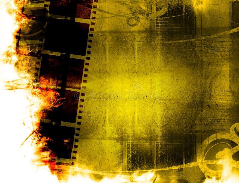 背景影片grunge主街上 皇族释放例证